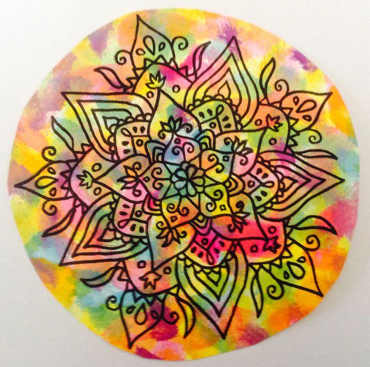 Mandala en colores