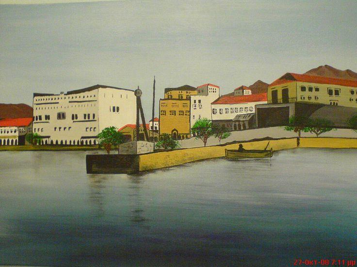 ζωγραφική πάνω σε καμβά με ακρυλικά και πλαστικό χρώμα