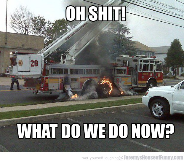 Good question!: Funny Pics, Fire Trucks, Funny Picture, Funny Stuff, Irony, Firetruck, Funnies, Photo