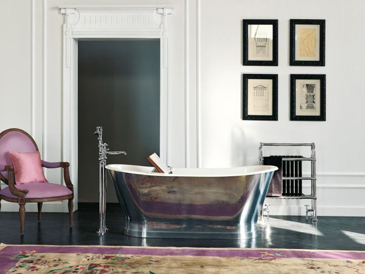 Richmond bañera de hierro fundido con revestimiento de aluminio externo de Gentry Home. La elegancia en el baño. #bañeras #diseño #gentryhome #inardi