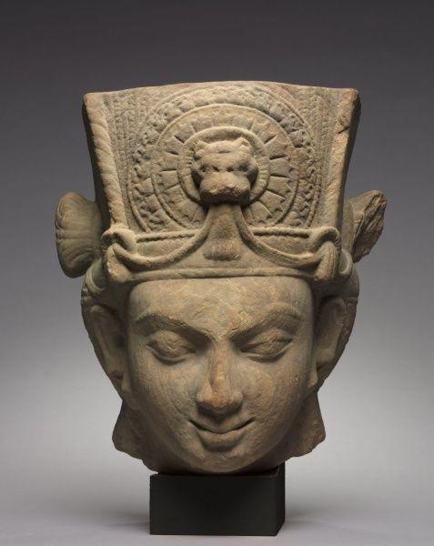 Head of Vishnu from Besnagar, 4th Century India, Vidisha District, Madhya Pradesh, Gupta Period (320-647)