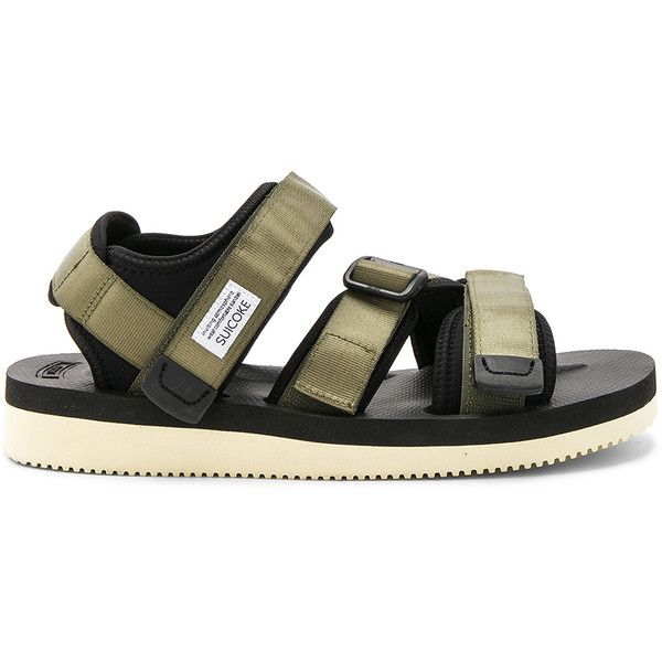Suicoke Kisee-V (1,290 CNY) ❤ liked on Polyvore featuring men's fashion, men's shoes, men's sneakers, sandals, mens velcro strap shoes, mens velcro sneakers, mens velcro strap sneakers and mens velcro shoes