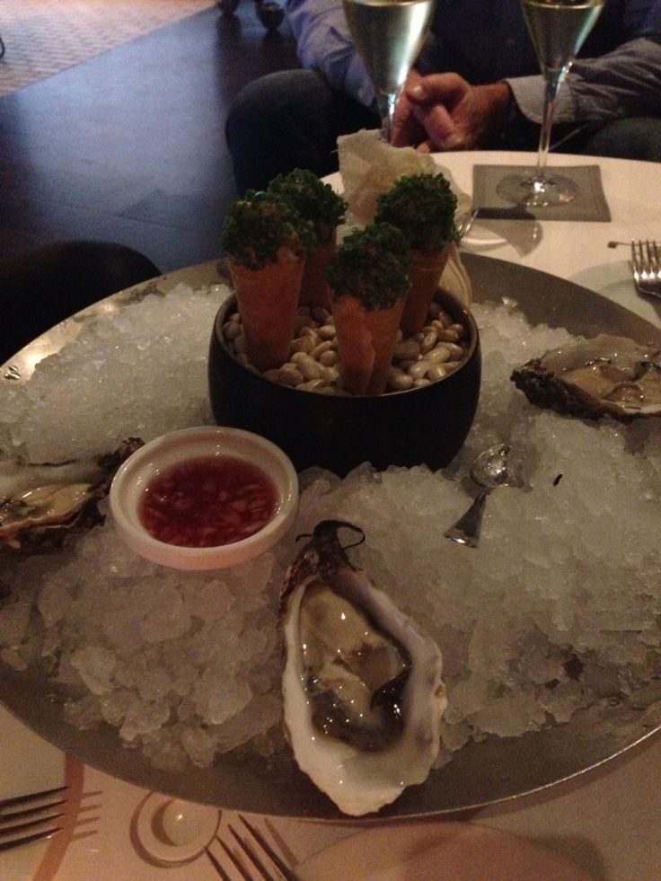 Gillardeau oysters and cornetto's filled with smoked salmon. @Sofitel Legend The Grand Amsterdam, my workplace