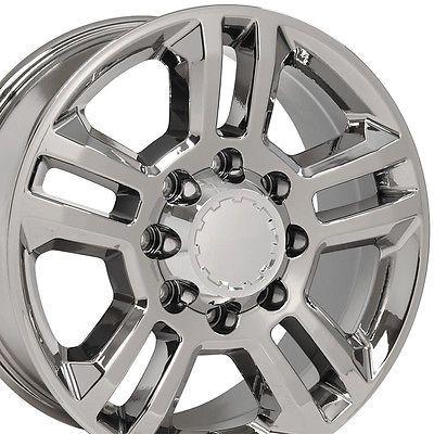 "20"" Wheels for Chevy Silverado 2500 3500 GMC Sierra Yukon 8X165 Chrome Rims Set"