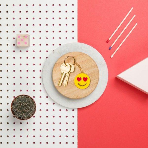 Porte-clés Emoji Amoureux yeux en coeur #love #saintvalentin #amour #bemyvalentine #valentin #heart