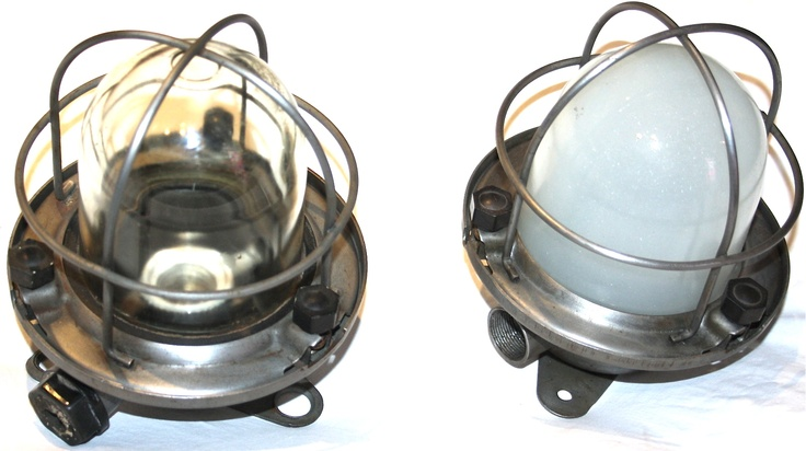 Vintage ship bulk lights from a Russian Ship - great in the home
