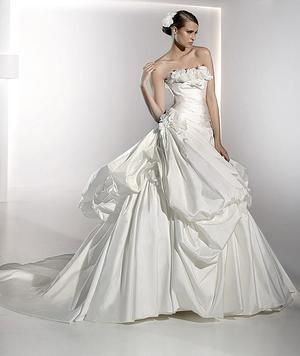 WOW - this is a lot of dress! Pronovias Mistico wedding dress