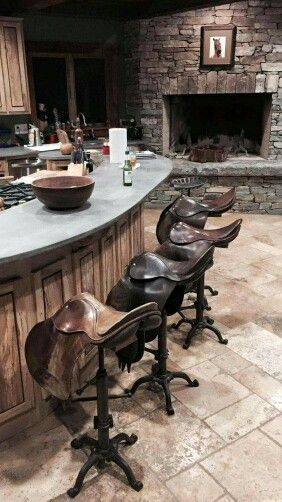 Cool saddle bar stools