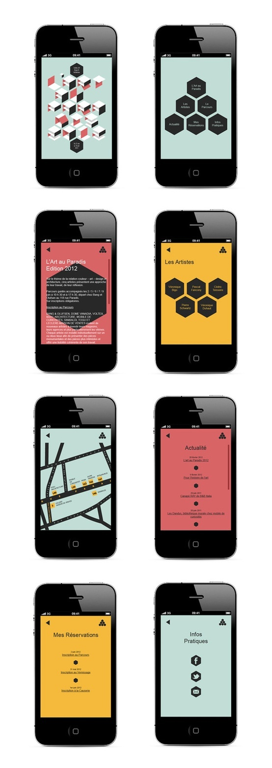 Interface mobile / sweet colour palette...