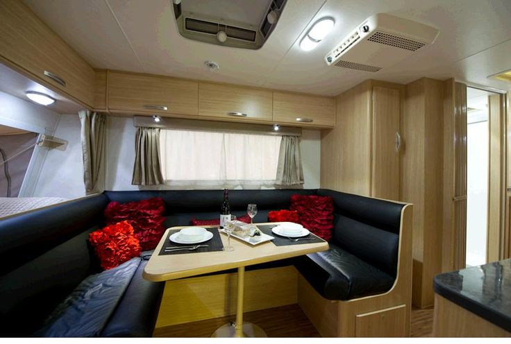 Comfortable Leather seating & Roof mounted reverse-cycle Air conditioning