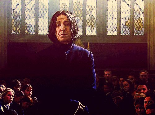 "When he gave the sassiest shrug in the whole wide world. | 23 Of The Best Professor Snape Moments In ""Harry Potter"""
