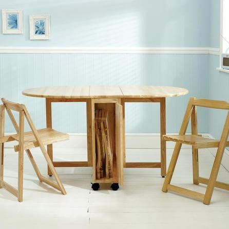 Rubberwood Butterfly Table With 4 Chairs | Dunelm