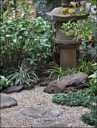 Japanese garden item height with rocks/ornaments