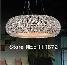 hot sales modern chrome crystal pendant lights hang bar light Dia430mm lustre crystal lamp(China (Mainland))