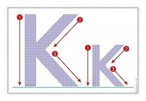 """Εκτύπωση φύλλου δραστηριότηρας με θέμα """"Πώς γράφεται το γράμμα Κ,κ""""."""