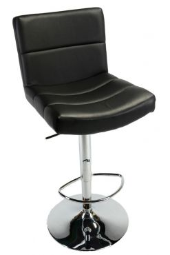 This contemporary adjustable height barstool is made with a hydraulic lift The bination of a