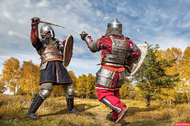 Medieval Battle reenactment Russia