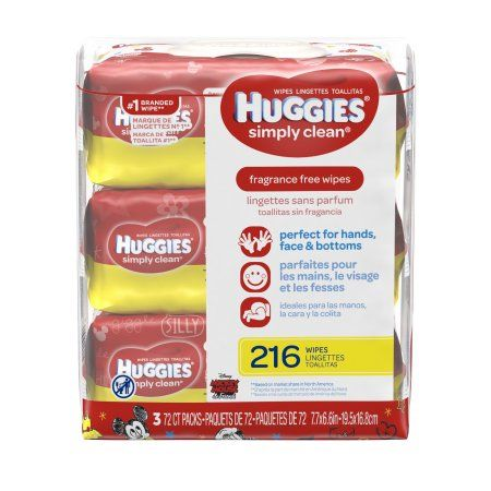 Huggies Wipes Simply Clean Fragrance Free Soft Packs - 3 CT