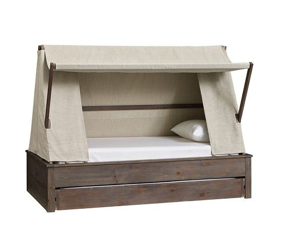 Wyatt Trundle Platform Bed & Canopy | Pottery Barn Kids