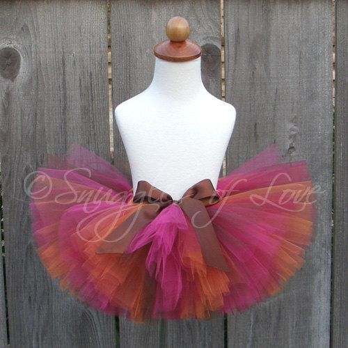 Autumn Jewel Tutu Thanksgiving Tutu Fall Tutu by snugglesoflove