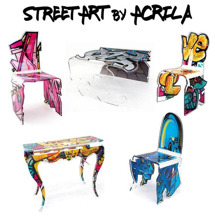 Vous avez aimé la chaise Street art d'Acrila ? Découvrez la table basse et la console 😍 Dispo au 09 quai des célestins à Lyon ! #streetart #tablebasse #console #acrila #tag #graffiti #mobilier #plexi #transparence #quaidescélestins #monlyon #lyon2e