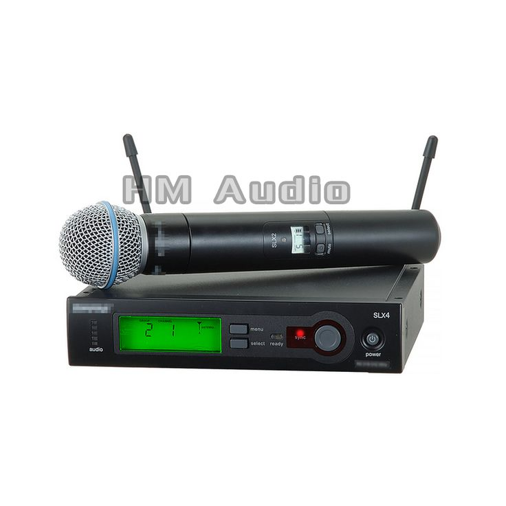 SLX24 BETA58 UHF Wireless Microphones single handheld Karaoke wireless microphone Vocal Microfone System