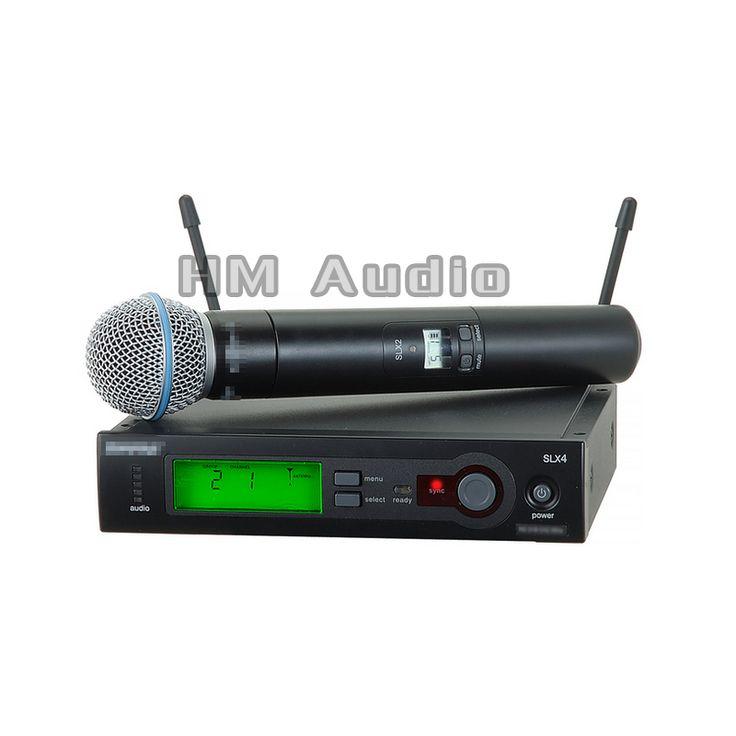 SLX24 BETA58 UHF Wireless Microphones single handheld Karaoke wireless microphone Vocal Microfone System