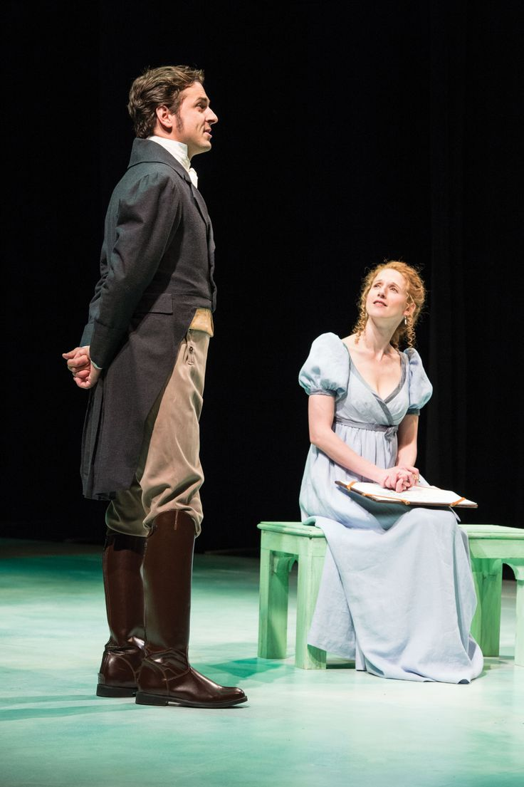 "Quinn Mattfeld as Edward Ferrars and Cassandra Bissell as Elinor Dashwood in Utah Shakespeare Festival's 2014 production of ""Sense and Sensibility."" (Photo by Karl Hugh. Copyright 2014 Utah Shakespeare Festival.)"