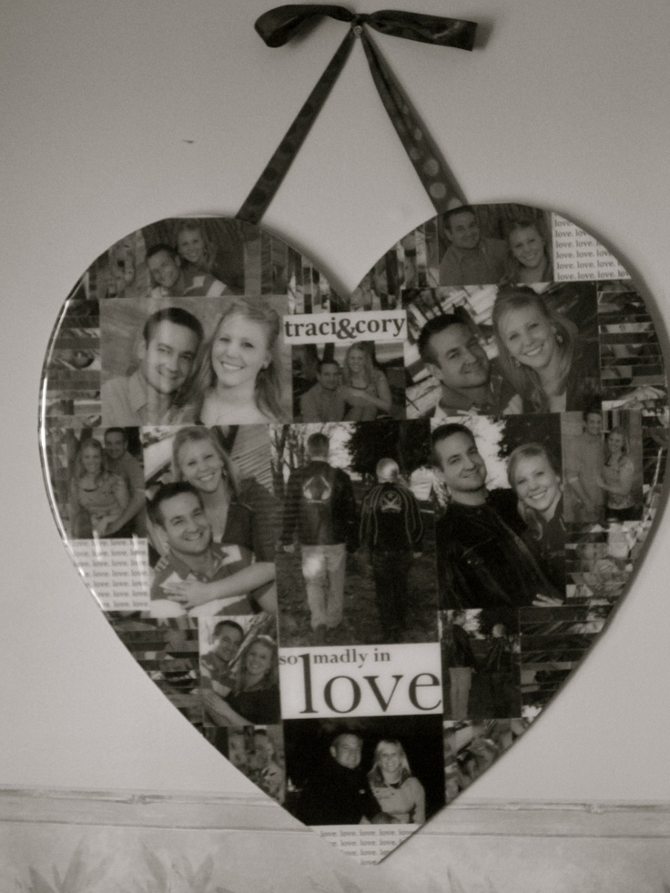 i have made a collage for my best friend with her husband as wedding gift. i copied the pictures from facebook and made my college without her knowing it. collage is my one of my signature crafts that i often made for friends and family.