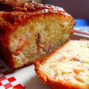 cake citronné au saumon ou à la truite fumée