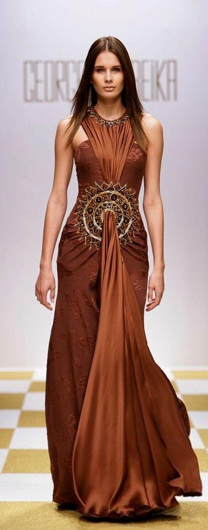 BROWN  BRONZE PRINTED DRESSES