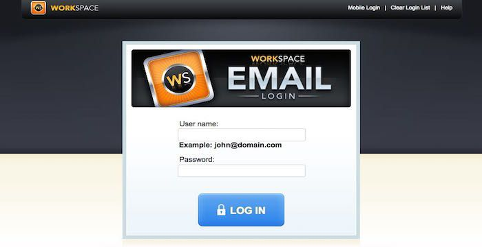 Workspace login