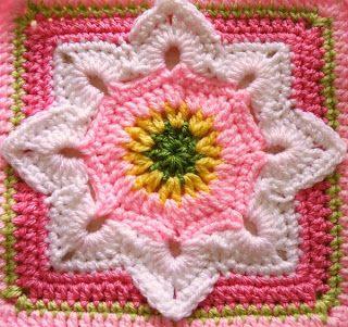 flower square crochet block