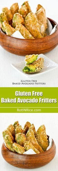 Gluten Free Baked Av Gluten Free Baked Avocado Fritters coated...  Gluten Free Baked Av Gluten Free Baked Avocado Fritters coated with rice puffs or gluten free rice Krispies. They are crunchy on the outside and soft on the inside. | RotiNRice.com Recipe : http://ift.tt/1hGiZgA And @ItsNutella  http://ift.tt/2v8iUYW