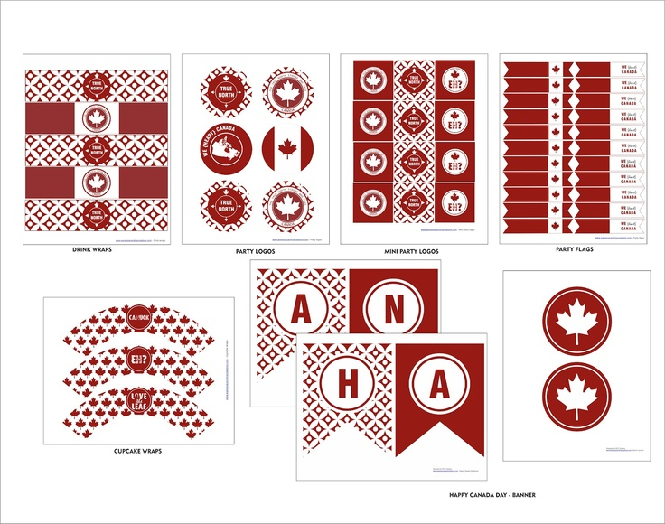 FREE CANADA DAY printables by WCC Designs http://www.wanessacarolinacreations.com/#