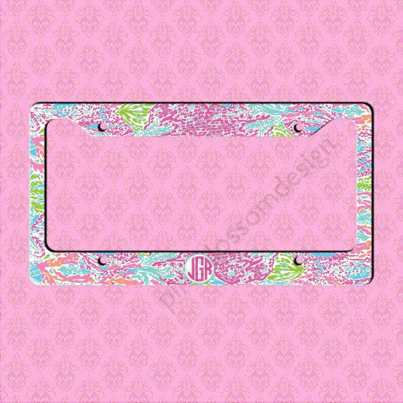 Hey, I found this really awesome Etsy listing at https://www.etsy.com/listing/203267259/custom-license-plate-frame-monogram