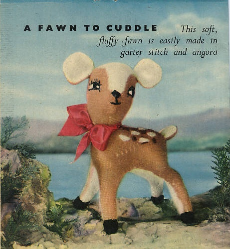 Vintage Baby Fawn Deer TOY Knitting Pattern | eBay
