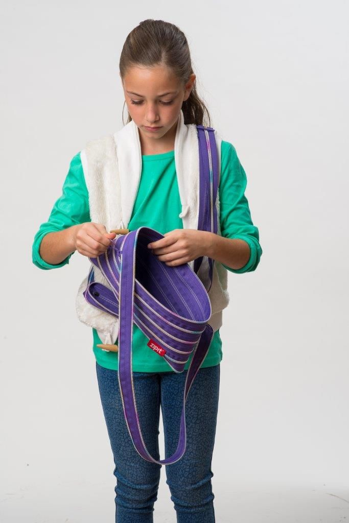 ZIPIT shoulder bag to zip up whatever you need.
