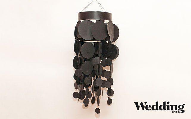Как сделать люстру из бумажных кружков для декора свадьбы