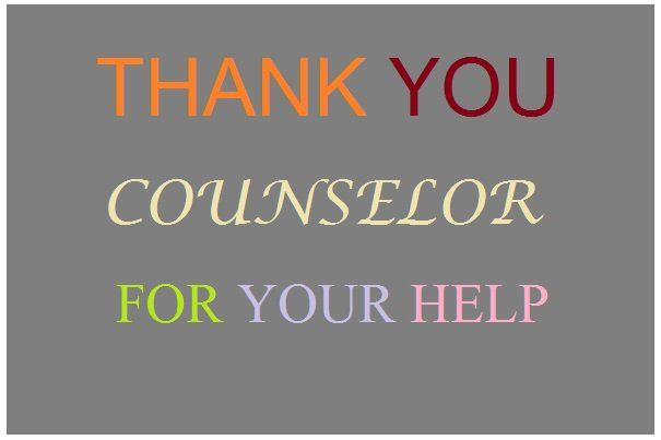 Thank-You Notes and Appreciation Messages to a Guidance Counselor