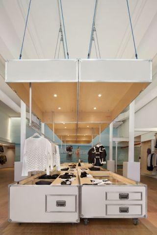 Band of Outsiders SoHo store by Lo-Tek - Frameweb #design #interiordesign #interiors #retail #shop