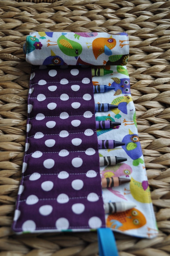 Crayon roll - cute gift!