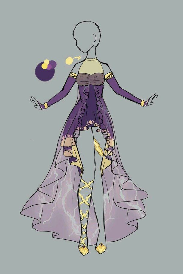 animé, art, dessin, robe, fille - image #2554094 par patrisha sur ...