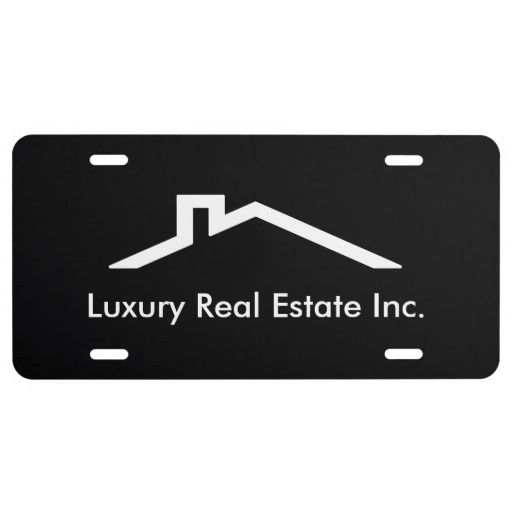 Simple Realtor License Plate for states that allow front license plates.  Personalize with your information for free.