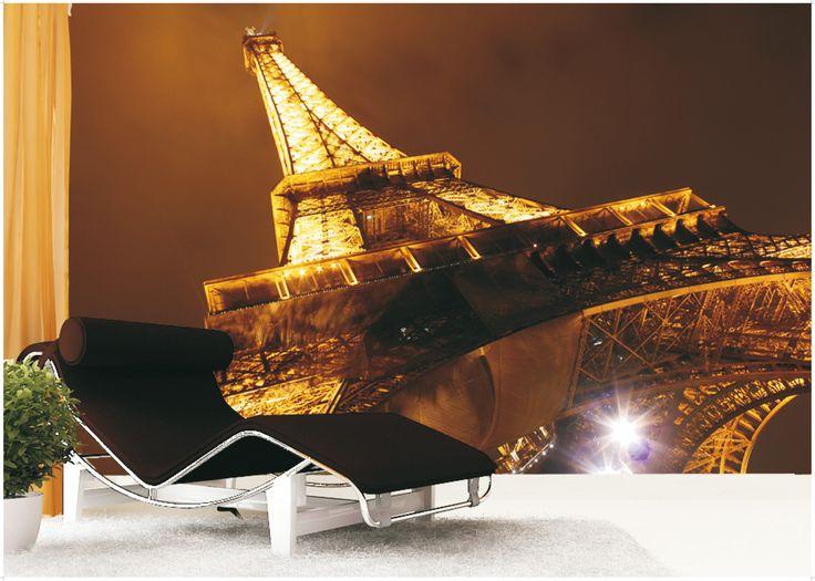 PHOTO MURAL PARIS EIFFEL TOWER FTN XXL 0188 FOTOTAPETA VLIESOVÁ EIFFELOVA VĚŽ NASVÍCENÁ Rozměry: 330 x 255 cm