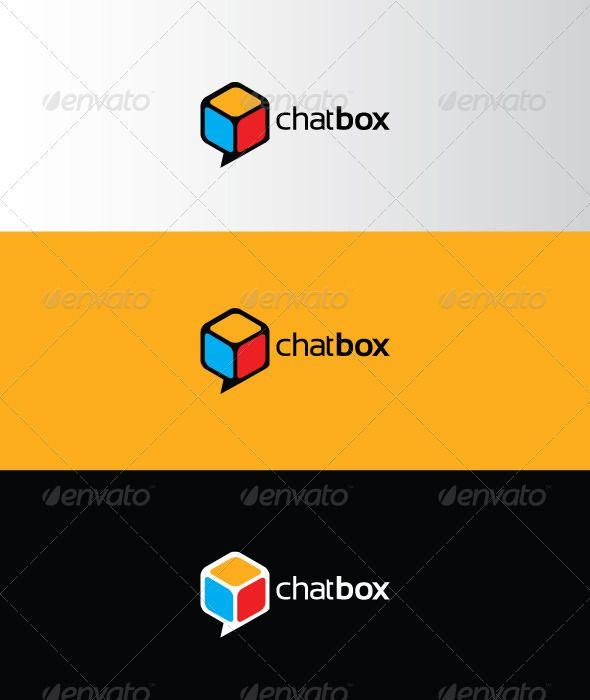 Chatbox - 추상 로고 템플릿