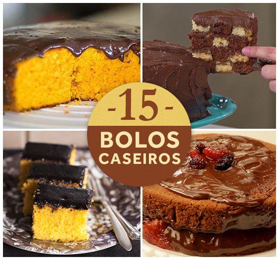 Do fubá ao chocolate, veja como fazer 15 bolos caseiros perfeitos para o lanche! Escolha uma receita e faça para acompanhar o café da tarde