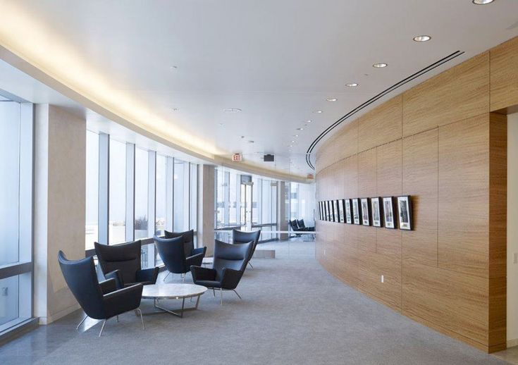 Carl Hansen & Søn Cases Wing chairs at CEDARS-SINAI MEDICAL CENTER