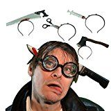 Chichic 4PCS Knife Through Head Costume for Best Halloween Props Party Accessory Halloween Decoration