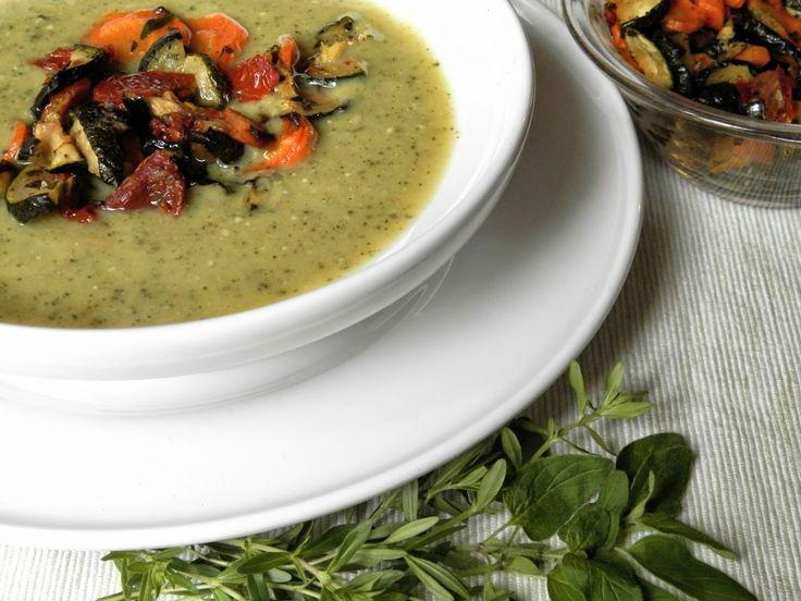 hogymegtudjuknézni: Cukkini krémleves sült zöldségekkel és aszalt paradicsommal